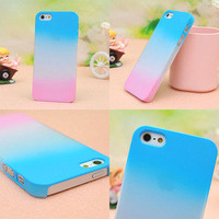 Bestgoods — Colourful Gradient Frosted Hard Cover Case For Iphone 4/4s/5