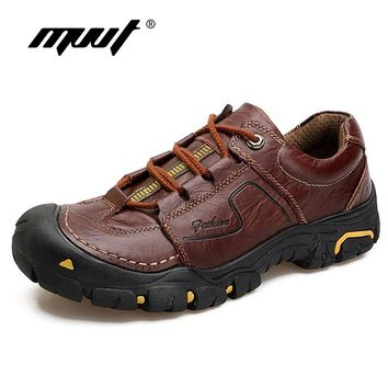 2018 Spring Genuine Leather Hiking Shoes Men Sneakers Rekking Hiking Boots Mountain Climbing Shoes Cross Country Men Zapatillas