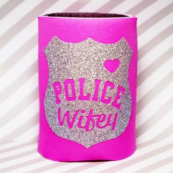 POLICE WIFEY Koozie / Coolie / Coozie / Cozy / Huggy