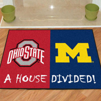 "Ohio State - Michigan House Divided Rug 33.75""""x42.5"""""