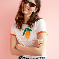 Statement tee - White/Peach and love - Tops - Monki GB