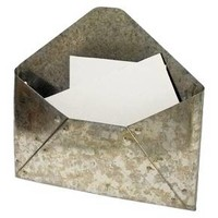 Galvanized Metal Envelope Mail Holder - Threshold™