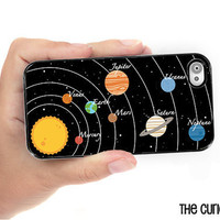 iPhone Case Solar System Planet iPhone Hard Case / Fits Iphone 4, 4S