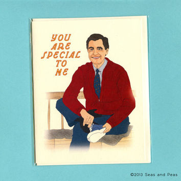 SPECIAL TO ME - Mister Rogers - Funny Love Card - Mister Rogers Card - Funny Valentine - Funny Valentine Card - Cute Love Card - Love Card