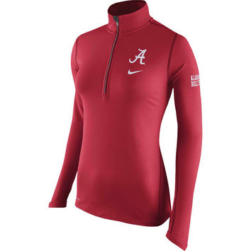 Women's Nike Crimson Alabama Crimson Tide Tailgate Element Performance Half-Zip Jacket
