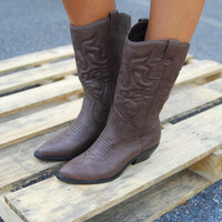 Chocolate Factory Cowboy Boots - Lotus Boutique