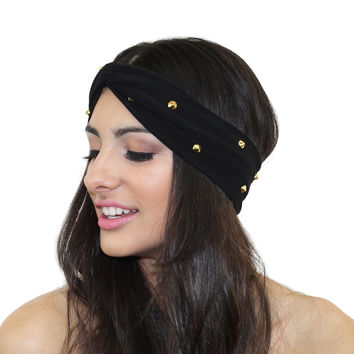 SPIKE STUDDED TURBAN