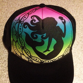 Rainbow tribal mermaid truckerhat