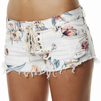 SURFSTITCH - OUTLET - WOMENS - SHORTS - BILLABONG LITE HEARTED FLORAL SHORT - WHITE