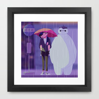 my neighbor baymax Framed Art Print by Punziella