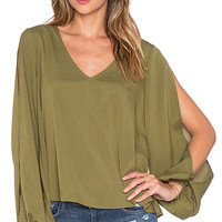 x REVOLVE Daydream Blouse in Army Green
