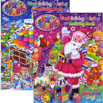 LISA FRANK HOLIDAY Giant Coloring & Activity Book Case Pack 48