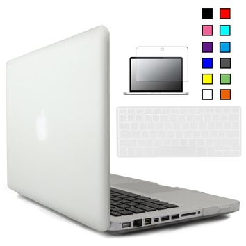 New Crystal Matte Hard Case Cover For Macbook Pro 13 inch A1278 with Keyboard Cover+Screen Protector for Mac Book Pro 13 Case
