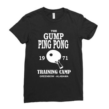 forrest gump   ping pong camp   cult film Ladies Fitted T-Shirt