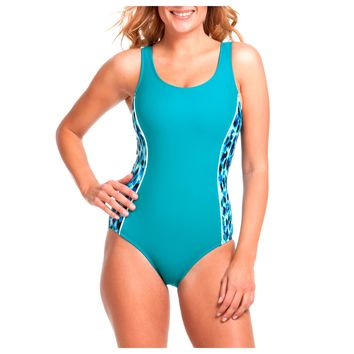 6a5de14cce7 Catalina Women's Sporty High-Neck One-Piece Swimsuit - Walmart.com