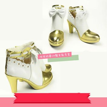 Japanese Anime Wedding Love Live Minami Kotori Cosplay Bride White Shoes Comic Con Ayase Eli Lolita High Heel Shoes any size
