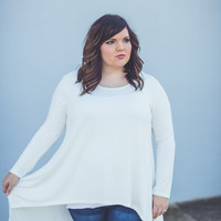 Call Me Classy Plus Size Top in Off White