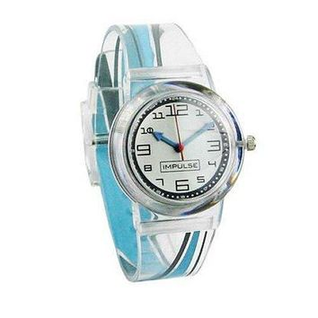 Nurses Watch Swoosh Design Clear Jelly Band Think Medical 01101