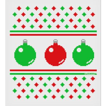 """TooLoud Ugly Christmas Sweater Ornaments 9 x 10.5"""" Rectangular Static Wall Cling"""