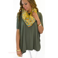 Boyfriend Piko Short Sleeve Army Green