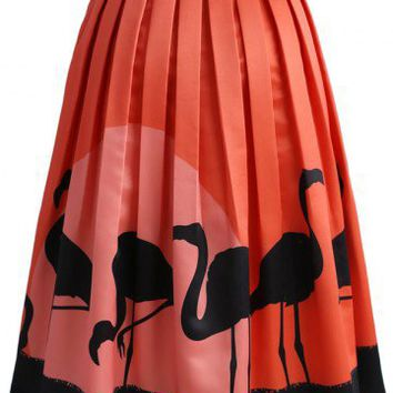 Flame-Ingo Midi Skirt