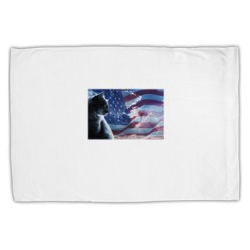 All American Cat Standard Size Polyester Pillow Case by TooLoud