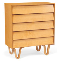Case Study Dresser Bent Wood Leg 5 Drawer