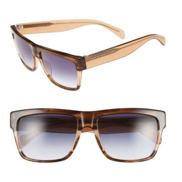 Marc by Marc Jacobs Striped Brown 56mm Sunglasses