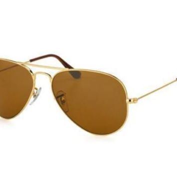 New Genuine Ray Ban Rb3025 00133 Aviator Gold Mens Womens Sunglasses Glasses