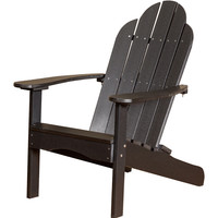 Michael Anthony Furniture Gaea Black Poly Lumber Outdoor Adirondack Chair