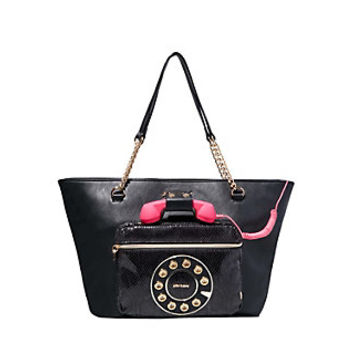 HOLD PLEASE PHONE TOTE: Betsey Johnson