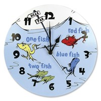 Trend Lab Dr. Seuss ''One Fish, Two Fish'' Wall Clock (Blue/Red)