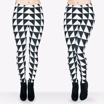 Colorful Geometry High Elastic Aztec Leggings