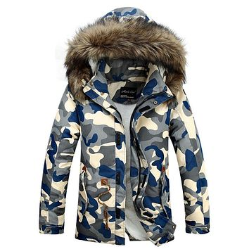 Long Big Fur Collar Man Jacket Winter Warm Thick Warm Hooded Men's Winter Duck Down Coat