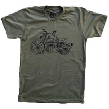 1929 Indian Motorcycle Army T-Shirt