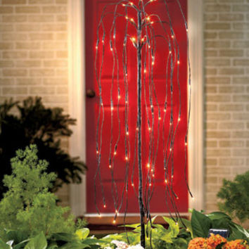 Solar Lighted Willow Tree Stake