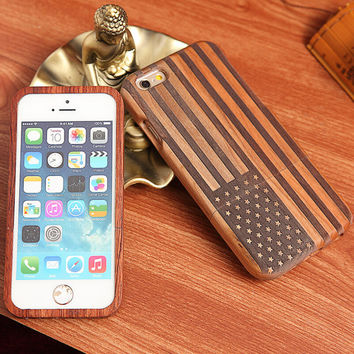 handmade wool carving american flag iPhone 5s 6 6s plus creative case
