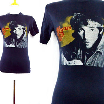 Vintage 80s BRUCE SPRINGSTEEN And The E Street Band World Tour T Shirt Sz S