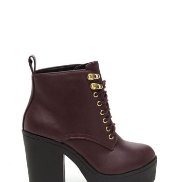 Ride Or Die Chunky Lace-Up Booties