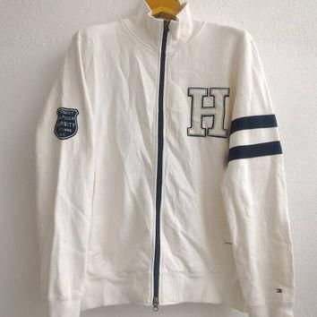 Vintage Tommy Hilfiger Sweatshirt Pullover Zip Up Bomber Jacket Spell Out Logos Suprem