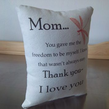 Mom quote pillow gift mother thank you gift throw pillow
