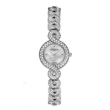 Wittnauer Krystal Collection Women's Mother of Pearl Bracelet Watch 10L100