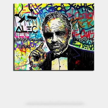 New Fashion Golden father Alec monopoly Graffiti arts print canvas for wall art  oil painting wall painting picture No framed