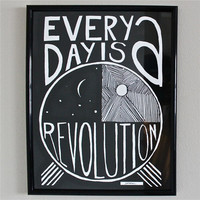 Revolution art every day black white print 11x14 by JeffMacArt