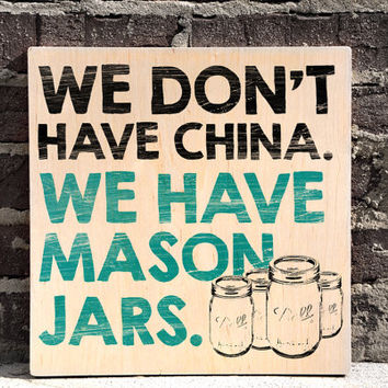 Mason Jars Wall Art, Kitchen Wall Decor, Wood Sign, Home Wall Decor, Rustic Sign
