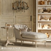 Eloquence Louis Chaise in Gold Two-Tone Finish