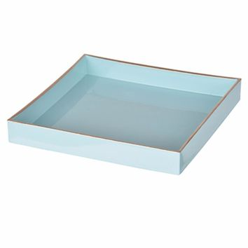 Alluring Mimosa Square Tray, Powder Blue