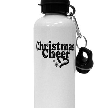 Christmas Cheer BnW Aluminum 600ml Water Bottle