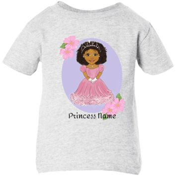 Baby Custom Shirt Personalized With Princess Baby Name African American Child Design