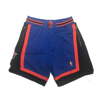 New York Knicks 1996-1997 NBA Authentic Shorts Customized w/ Pockets